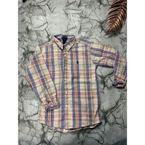 Ralph Lauren Boys Pastel Button Up Shirt (8T)